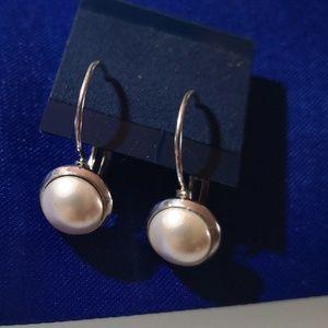 Swarovski Crystal.Earrings.Perls.